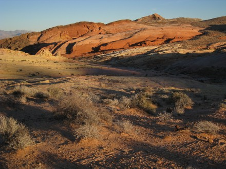 Dusk descends, illuminating Nevada's Valley of Fire. ©Joshua Brockman 2009. All Rights Reserved.
