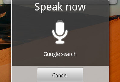 Google's Voice Search app on an Android phone allows users to do everything from listening to music to sending a note to themselves. Courtesy of Google.