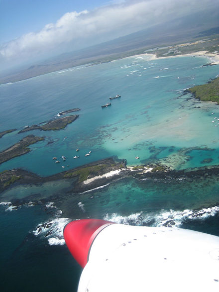 A bird's-eye view of Isabela Island. ©Joshua Brockman 2007. All Rights Reserved.